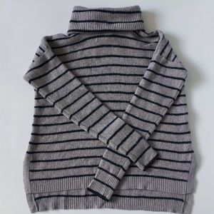 Madewell Ribbed Striped Turtleneck Sweater EUC